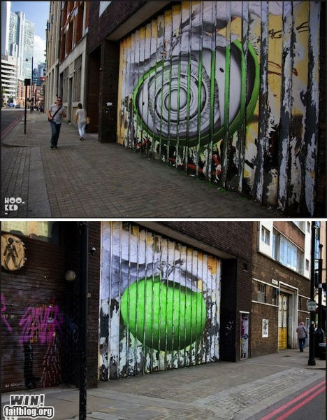 art double graffiti hacked irl perspective Street Art - 5554623744