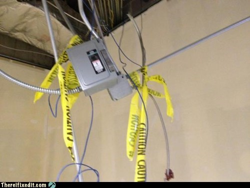 cables caution tape cords priority safety
