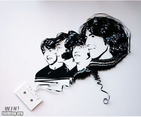 art beatles cassette design Music portrait tape - 5555284736