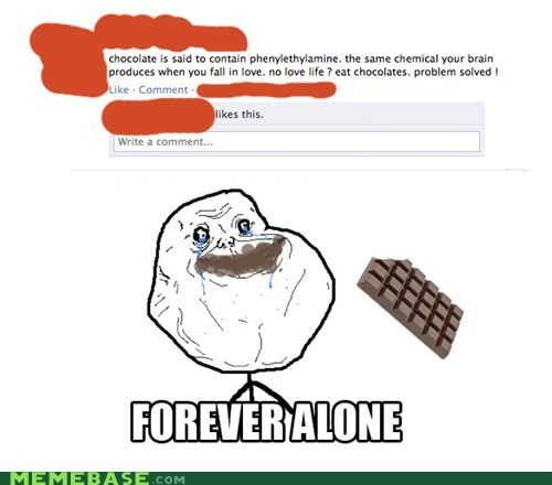 chocolate facebook forever alone relationships - 5555382016