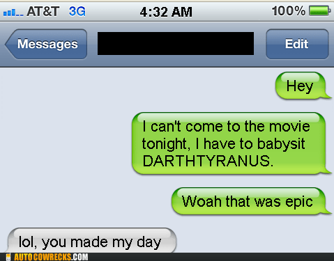 auto correct,babysitting,damien,darth tyranus,darthtyranus,star wars