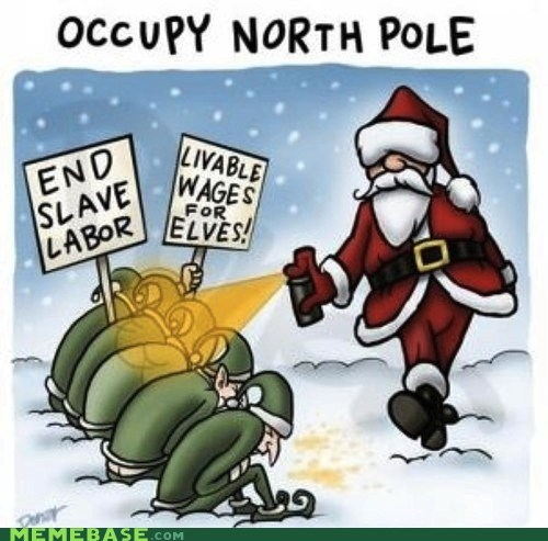 elves north pole Occupy Wall Street santa toys - 5555561216