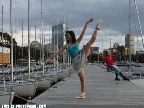 awesome ballet dancing dock practicing