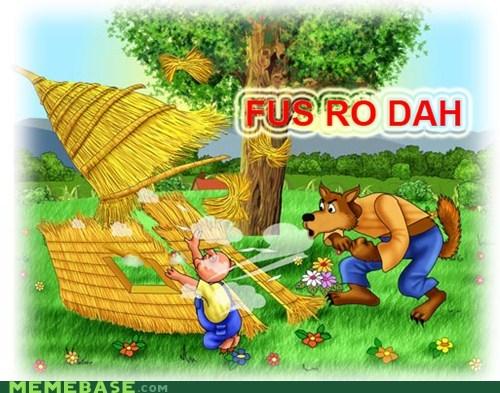 fus ro dah Memes Skyrim video games wolf - 5555831552