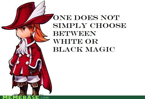 black mages magic one does not simply red RPGs video games white