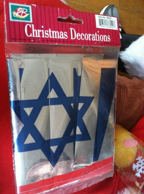 christmas decorations hanukkah IRL FAIL - 5555954432