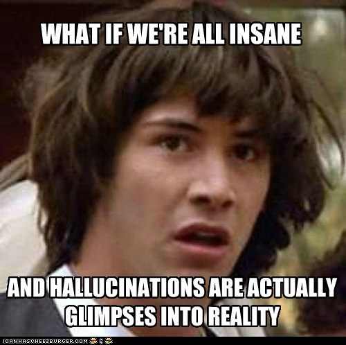 conspiracy keanu,delusions,hallucinations,insane,reality