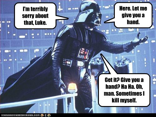 darth vader funny Movie star wars - 5556342272
