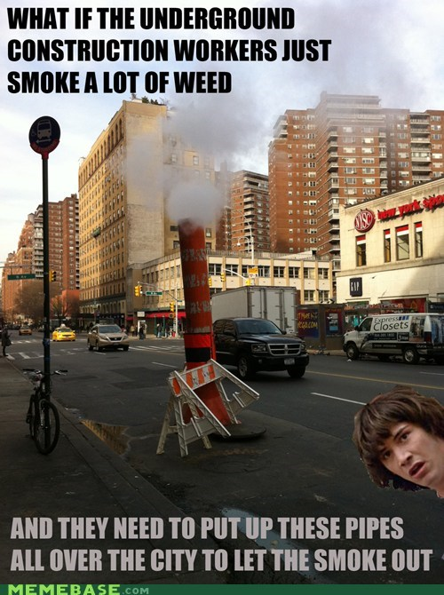 conspiracy keanu,pipes,steam,streets,weed,workers