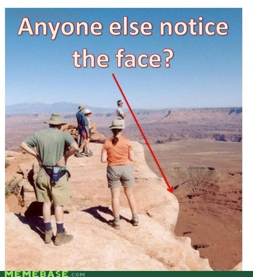 cannot unsee faces landscape Mount Rushmore - 5556450560