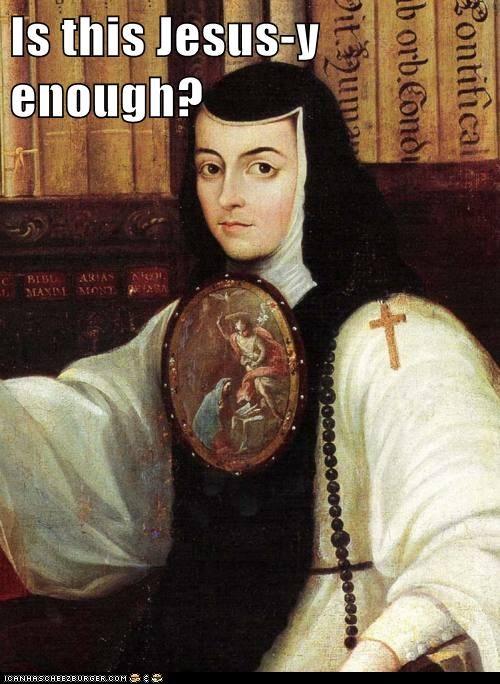 art color funny nun painting portrait religion - 5556714752