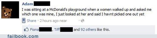 McDonald's,pedo,playground,witty status