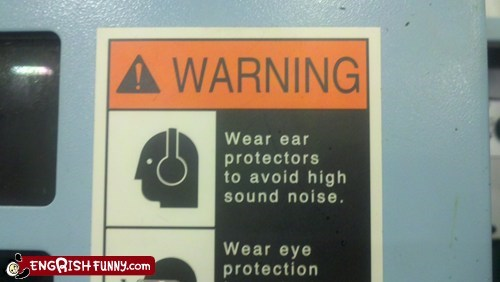 ear protectors,head phones,low sound noise,warning sign