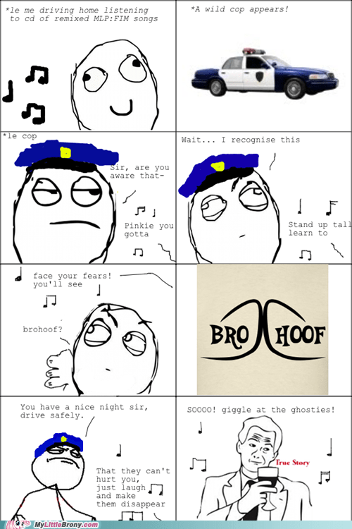20 Percent Cooler brohoof comics cops pulled over rage comic - 5557766912