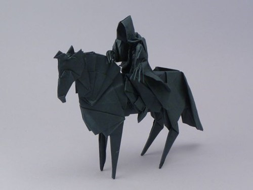 books,Fan Art,Lord of the Rings,movies,Nazgul,origami,ringwraith