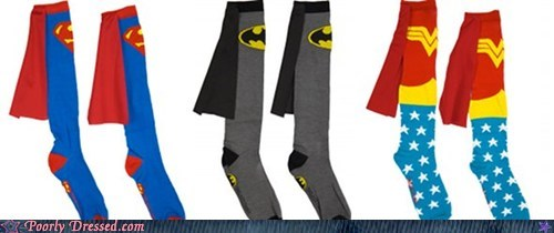 batman Hall of Fame superhero socks Superman takes time off wonder woman - 5558168832