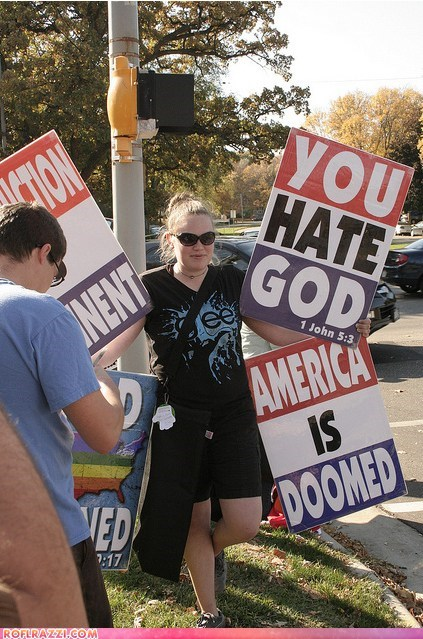 funny glee Hall of Fame irony Westboro Baptist Chruch wtf - 5558258688