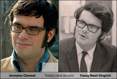 funny Hall of Fame jermaine clement newt gingrich TLL - 5558307840
