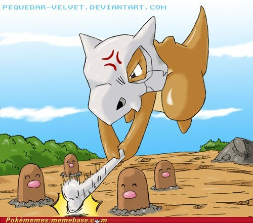 art cubone diglett diglett wednesday - 5558538752