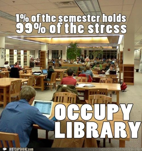 college library occupy library occupy wallstreet stress studying - 5558548224