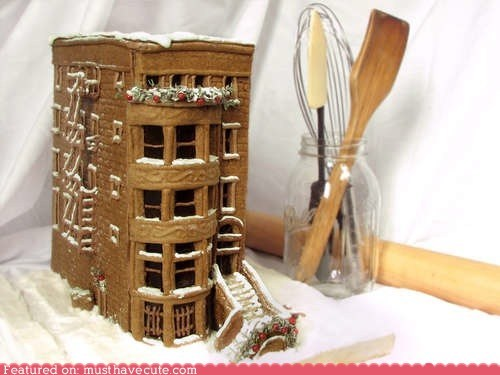 brooklyn,brownstone,epicute,gingerbread,house
