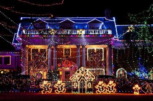 christmas decorations,christmas lights,house,lights