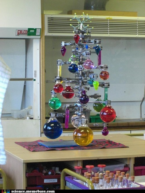 Chemistry,christmas,tree
