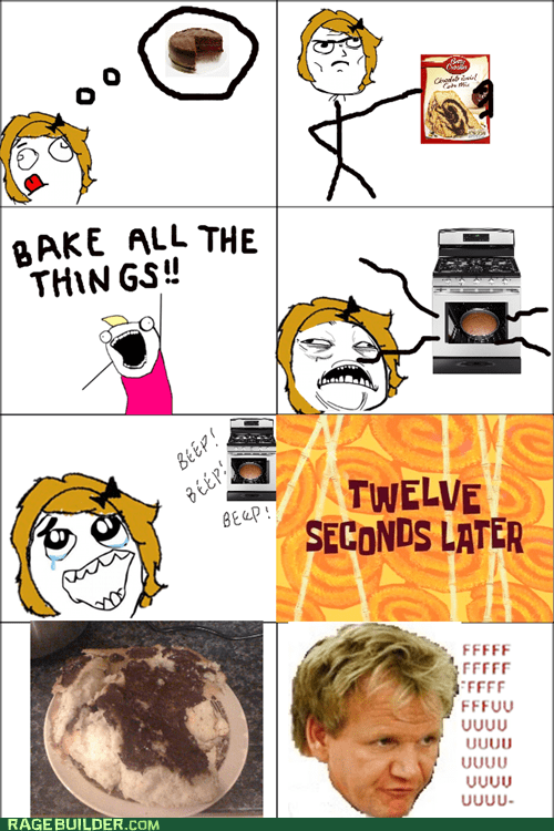baking cooking gordon ramsay kitchen Rage Comics - 5558648576