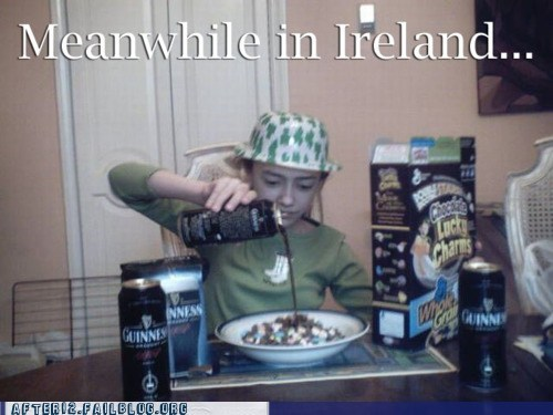 breakfast guinness Ireland leprechaun lucky charms potato shamrock St Patrick's Day - 5558689792