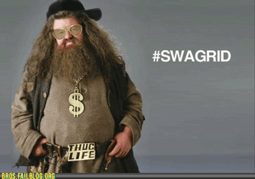 bros g rated Hagrid Hall of Fame Harry Potter like a champ pounding jagerbombs swag swagrid - 5558725120