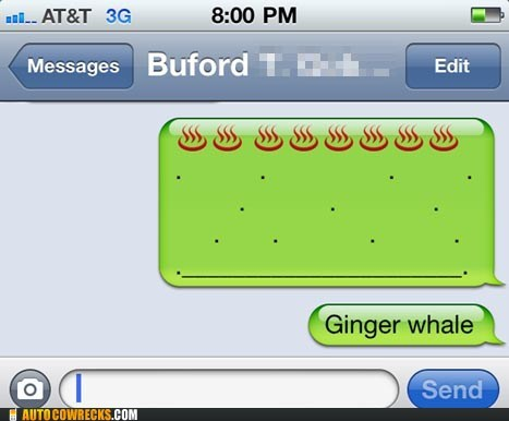 ginger,Harry Potter,iphone whale,Ron Weasley,whale