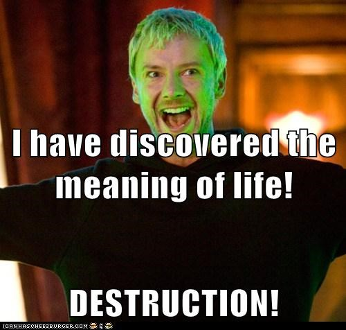 destrucion doctor who john simm the master the meaning of life