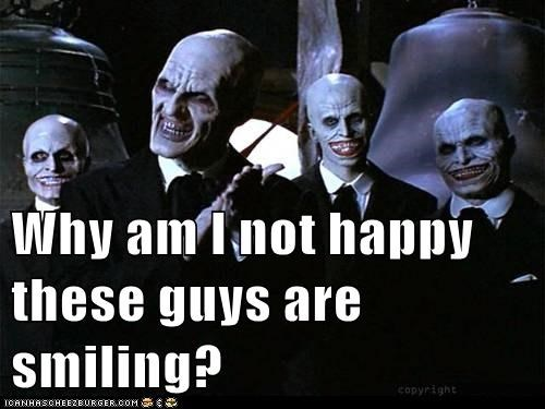 Buffy Buffy the Vampire Slayer not happy smiling the gentlemen villains