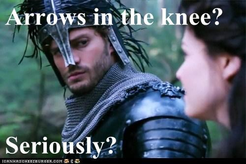 arrow in the knee,jamie dornan,once upon a time,sheriff graham,snow white