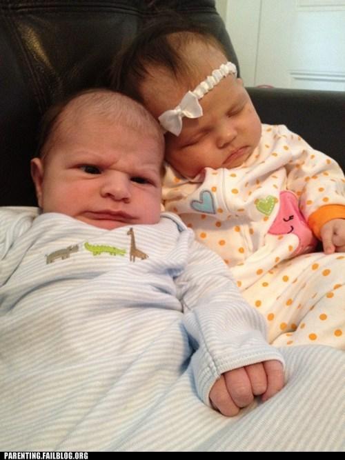 Awkward baby date derp derp face Parenting Fail - 5559298816