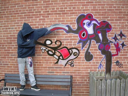 clever graffiti photography photoshop Street Art - 5559301632