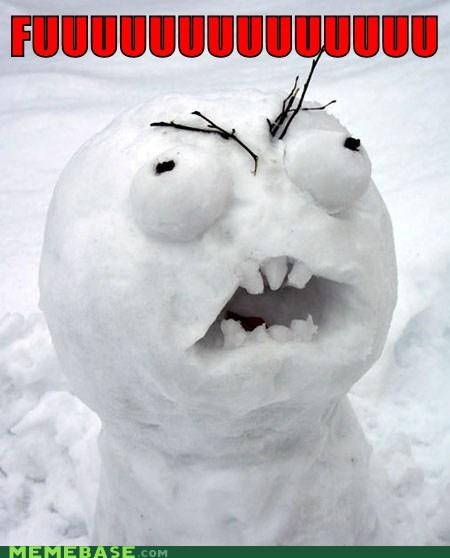 crap,faces,IRL,Rage Comics,snowman