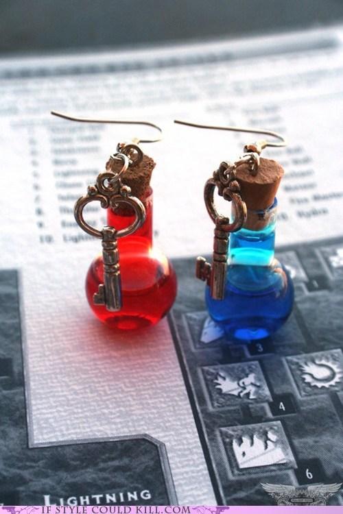 cool accessories earrings geek chic mana video games - 5559493632