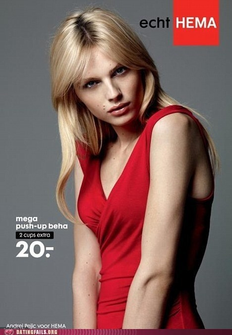 andrej pejic,androgynous,dude looks like a lady,hema,push up