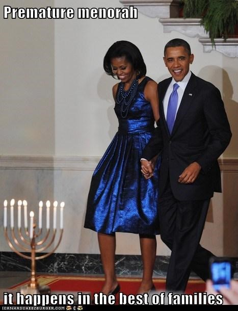 barack obama,hanukkah,Michelle Obama,political pictures