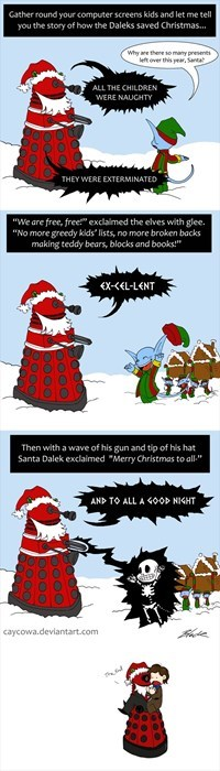 best of the week,christmas,comic,daleks,doctor who,elves,santa,saved