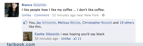 aww clever coffee facebook failbook g rated lol romance social media witty reply - 5559862272