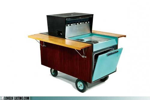 bbq cart eisenhower ike kitchen mobile oven stove