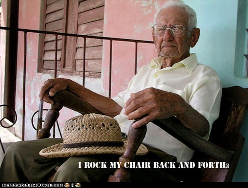 elderly,elderly man,old man,rock my chair back and forth,rocking chair,whip my hair back and forth