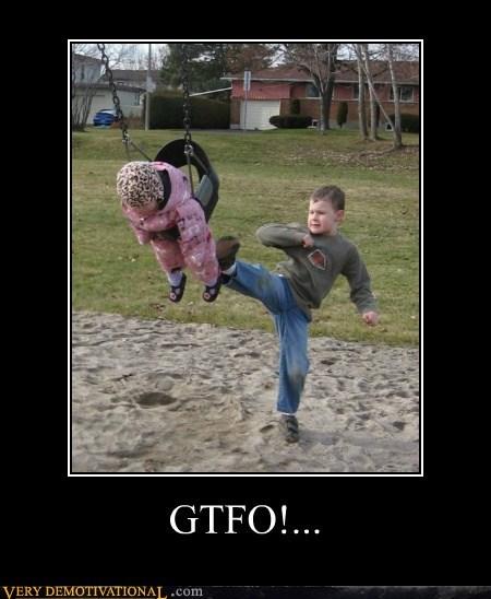 kick kid awesome swing funny - 5560672768
