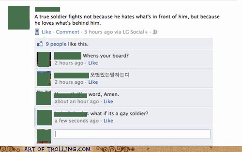 facebook gay soldier wtf - 5561127936