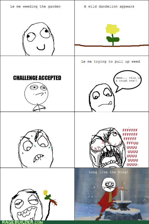 cute,Rage Comics,sword in the stone,weeding