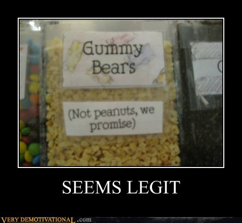 gummy bears hilarious peanuts seems legit wtf