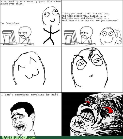 Awkward,listening,Rage Comics,shift change,work