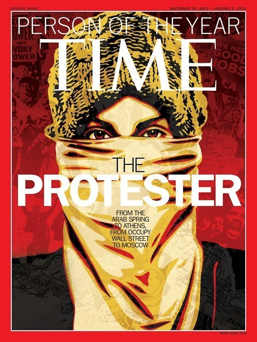 person of the year shepard fairey The Protester time